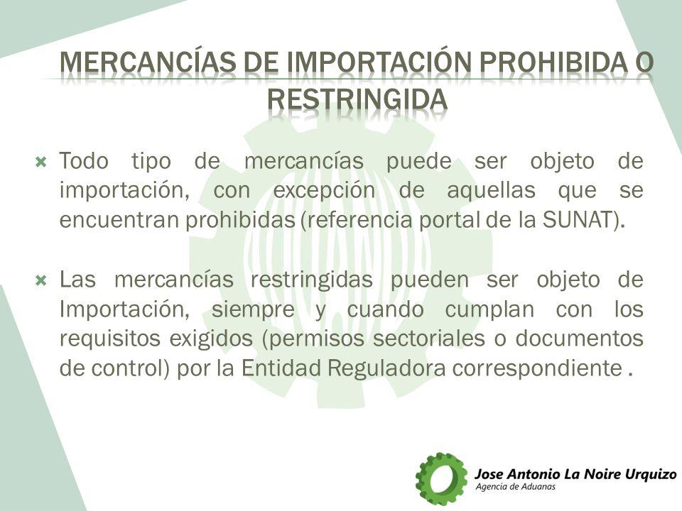 Mercancías de importación prohibida o restringida