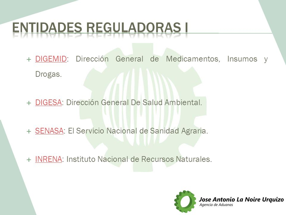 Entidades Reguladoras I