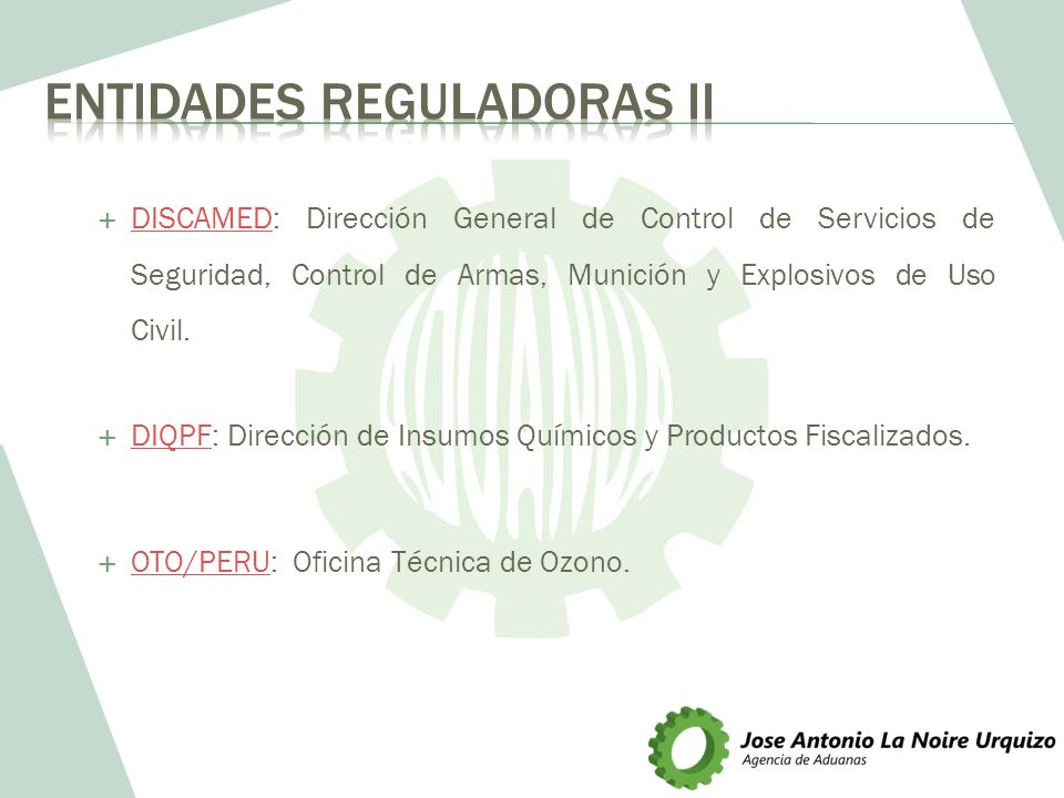 Entidades Reguladoras II