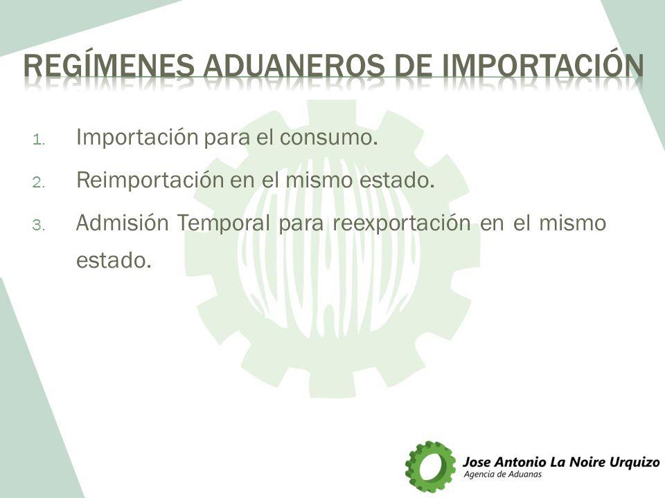REGÍMENES ADUANEROS DE IMPORTACIÓN