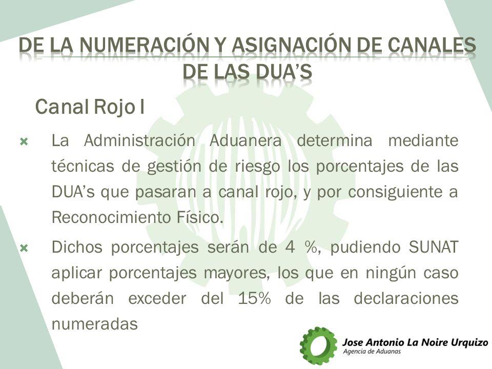 DE LA NUMERACIÓN Y ASIGNACIÓN DE CANALES DE LAS DUA'S