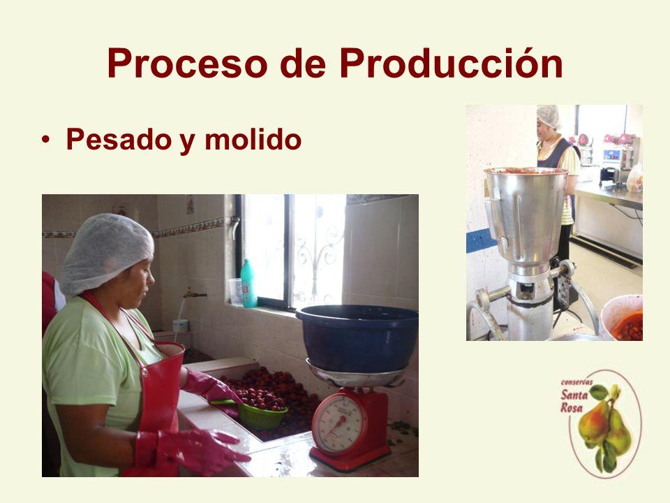 Proceso de Producción Pesado y molido