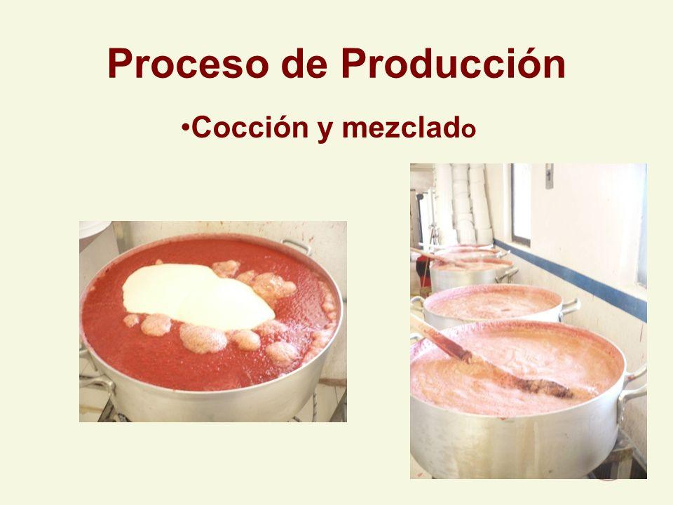 Proceso de Producción Cocción y mezclado