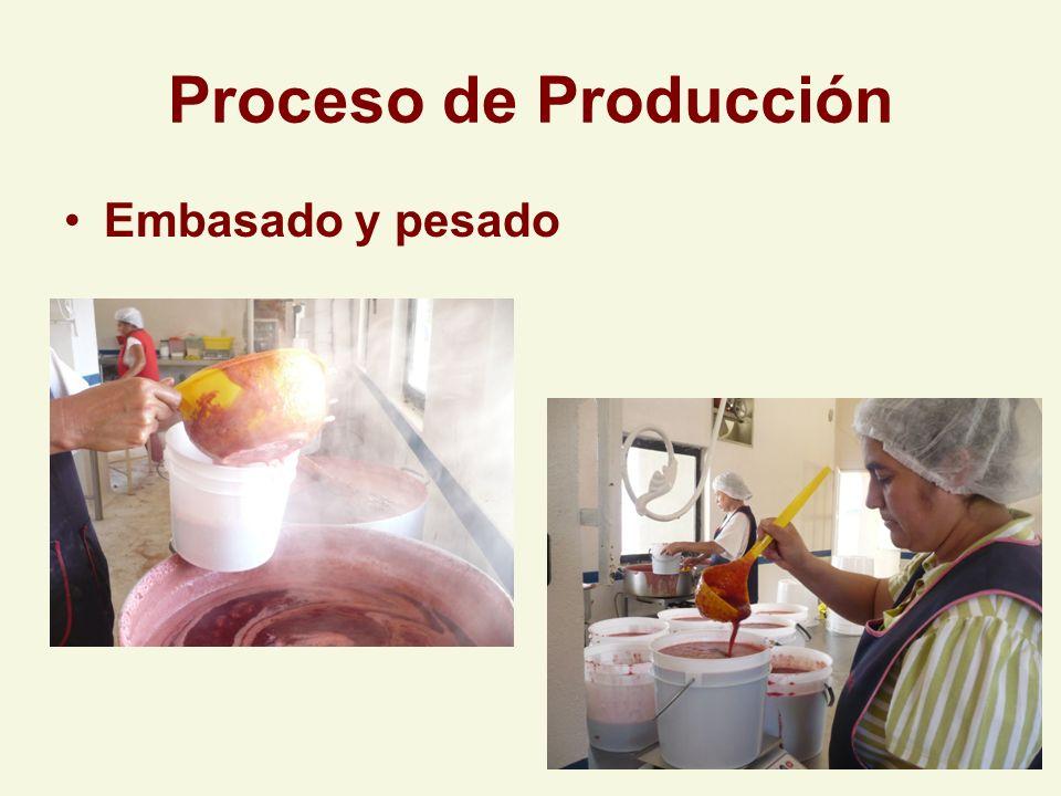 Proceso de Producción Embasado y pesado