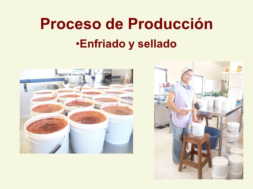 Proceso de Producción Enfriado y sellado