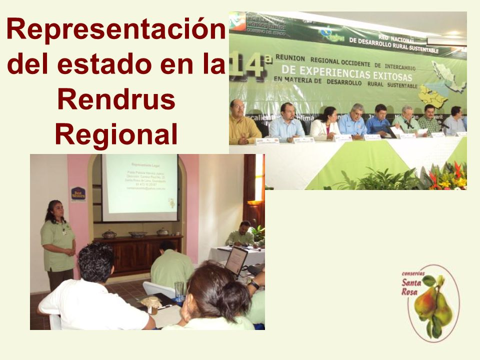 Representación del estado en la Rendrus Regional