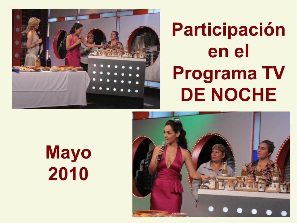 Participación en el Programa TV DE NOCHE