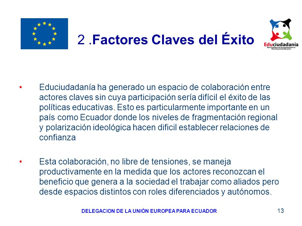 2 .Factores Claves del Éxito