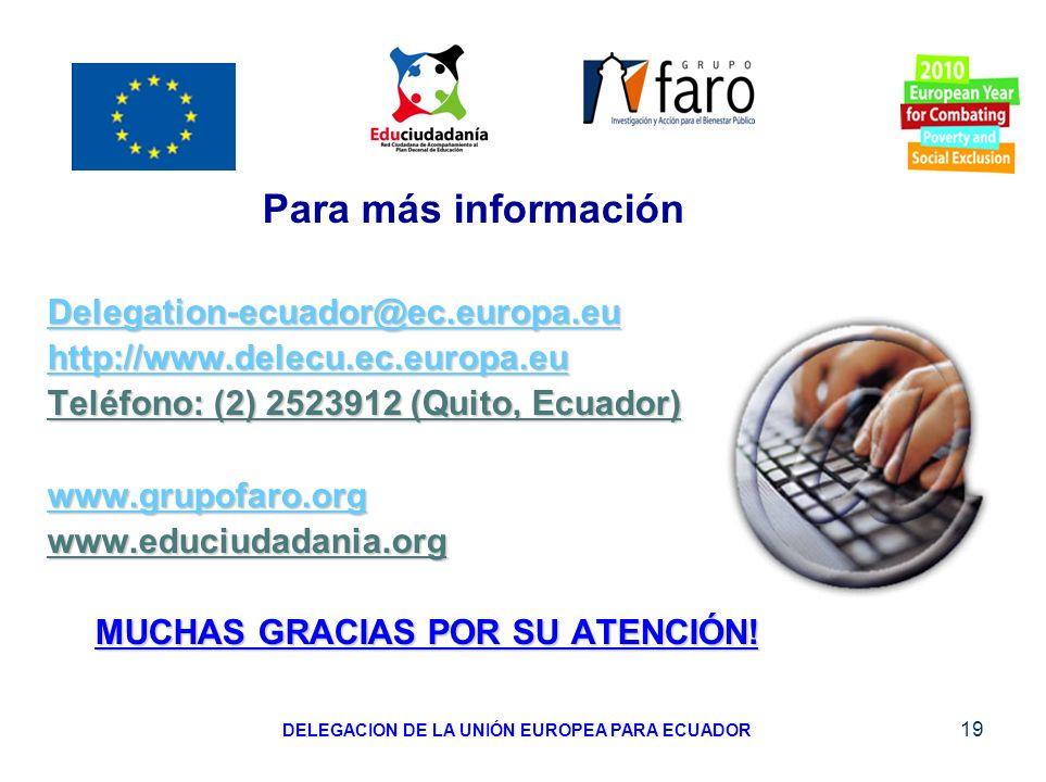 DELEGACION DE LA UNIÓN EUROPEA PARA ECUADOR