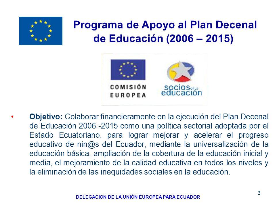 Programa de Apoyo al Plan Decenal de Educación (2006 – 2015)