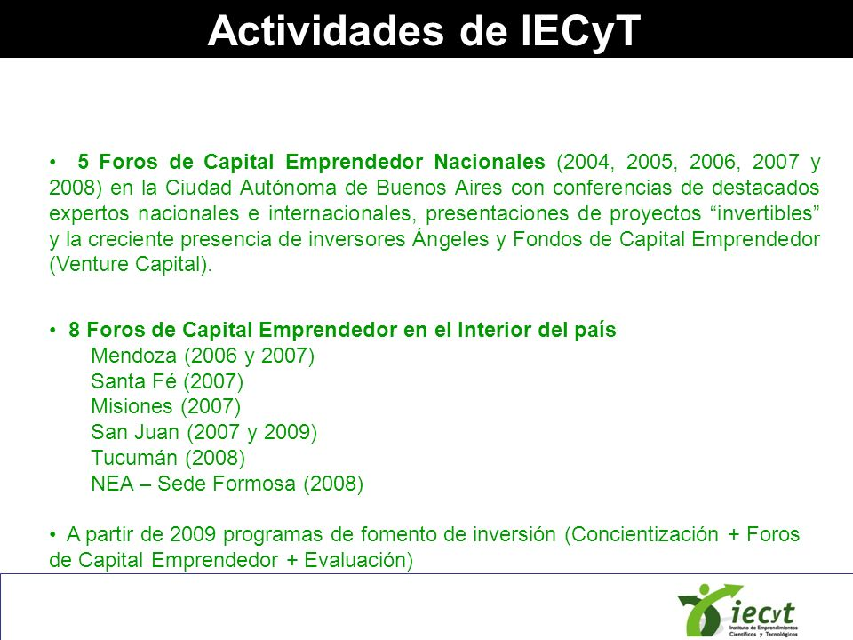 Actividades de IECyT