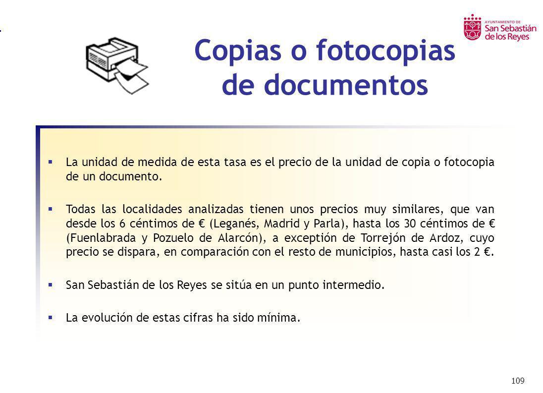 Copias o fotocopias de documentos