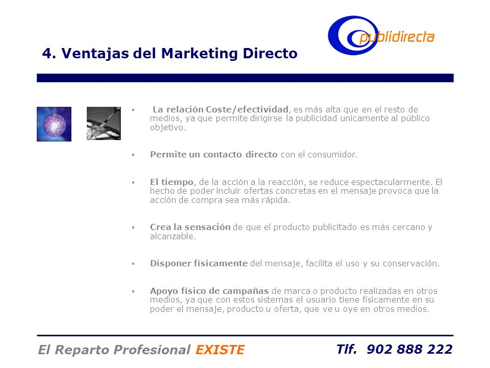 4. Ventajas del Marketing Directo