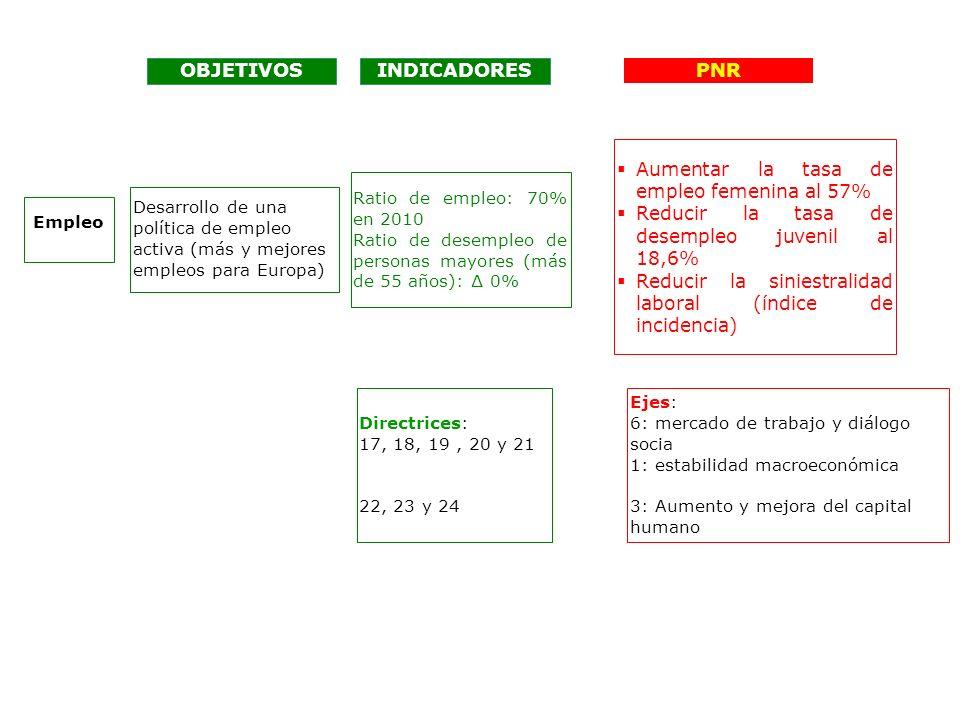 OBJETIVOS INDICADORES PNR