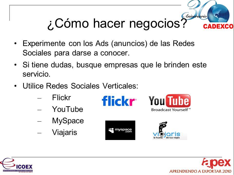 ¿Cómo hacer negocios Experimente con los Ads (anuncios) de las Redes Sociales para darse a conocer.