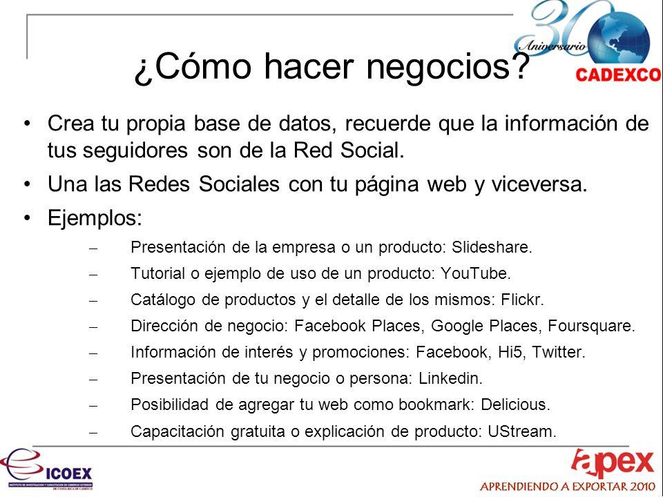 ¿Cómo hacer negocios Crea tu propia base de datos, recuerde que la información de tus seguidores son de la Red Social.