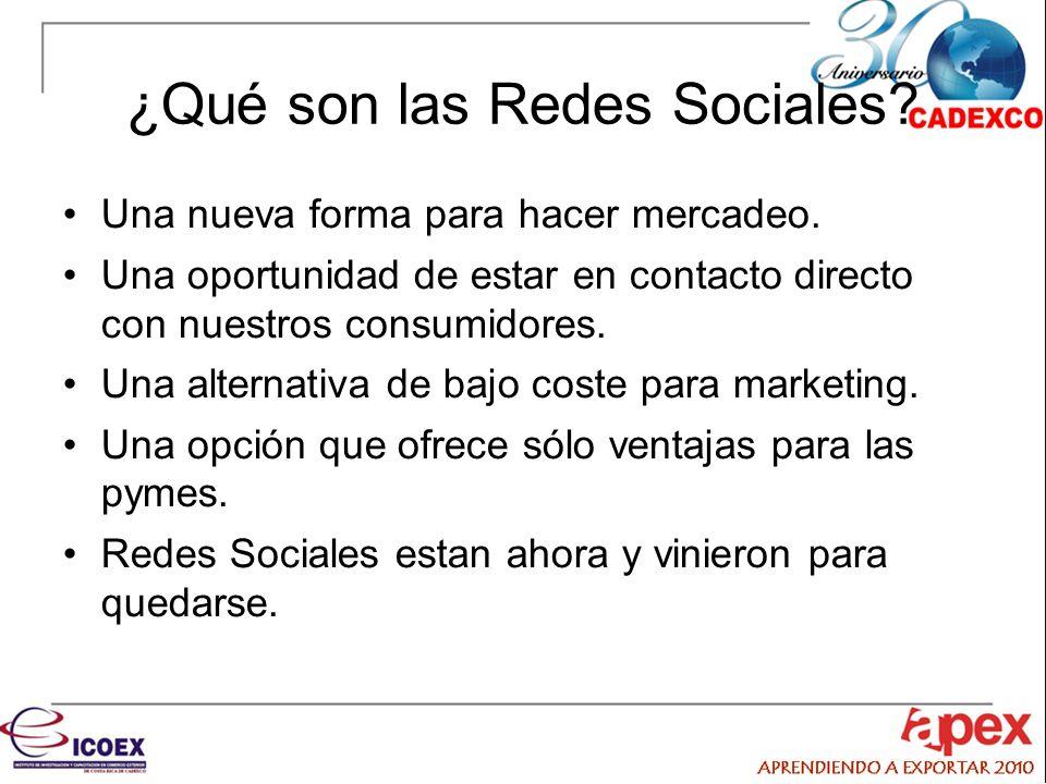 ¿Qué son las Redes Sociales