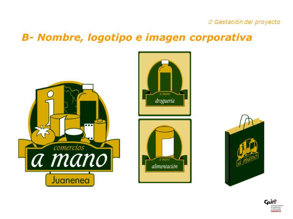 B- Nombre, logotipo e imagen corporativa