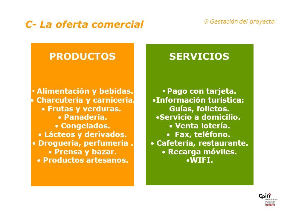C- La oferta comercial PRODUCTOS SERVICIOS