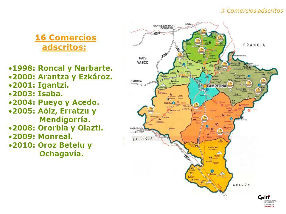 16 Comercios adscritos: 1998: Roncal y Narbarte.