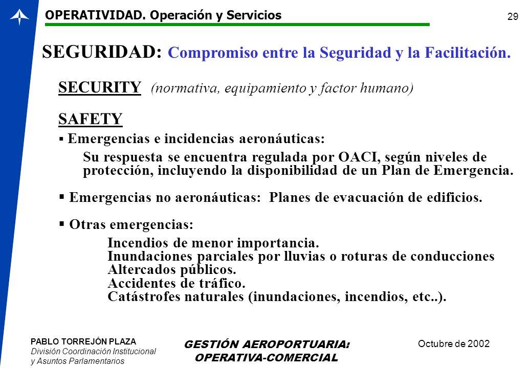 SEGURIDAD: Compromiso entre la Seguridad y la Facilitación.