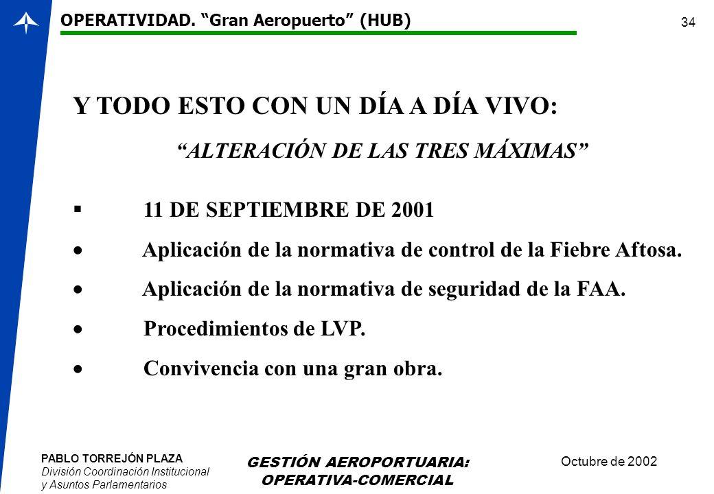 ALTERACIÓN DE LAS TRES MÁXIMAS
