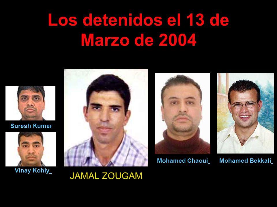 Los detenidos el 13 de Marzo de 2004