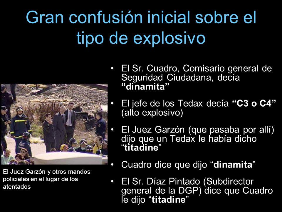 Gran confusión inicial sobre el tipo de explosivo