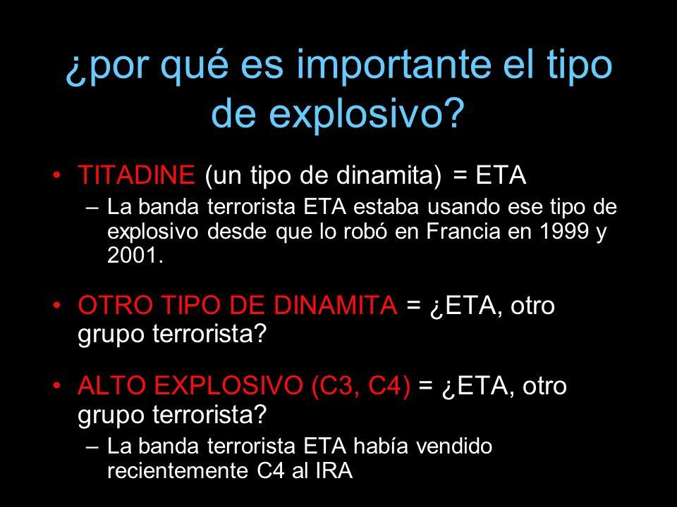 ¿por qué es importante el tipo de explosivo