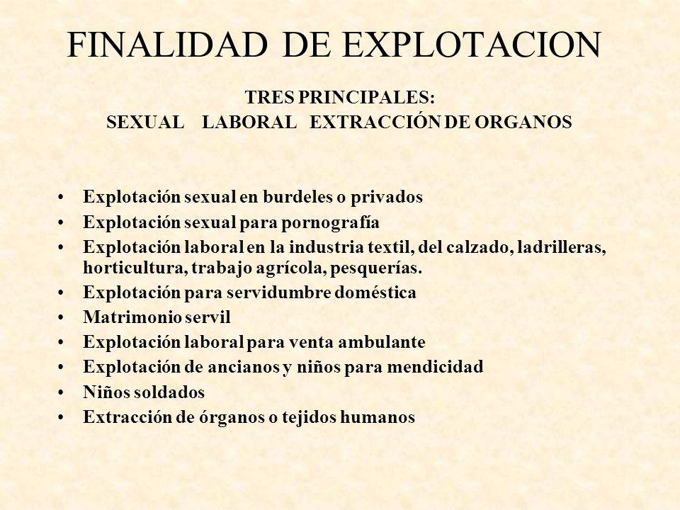 FINALIDAD DE EXPLOTACION