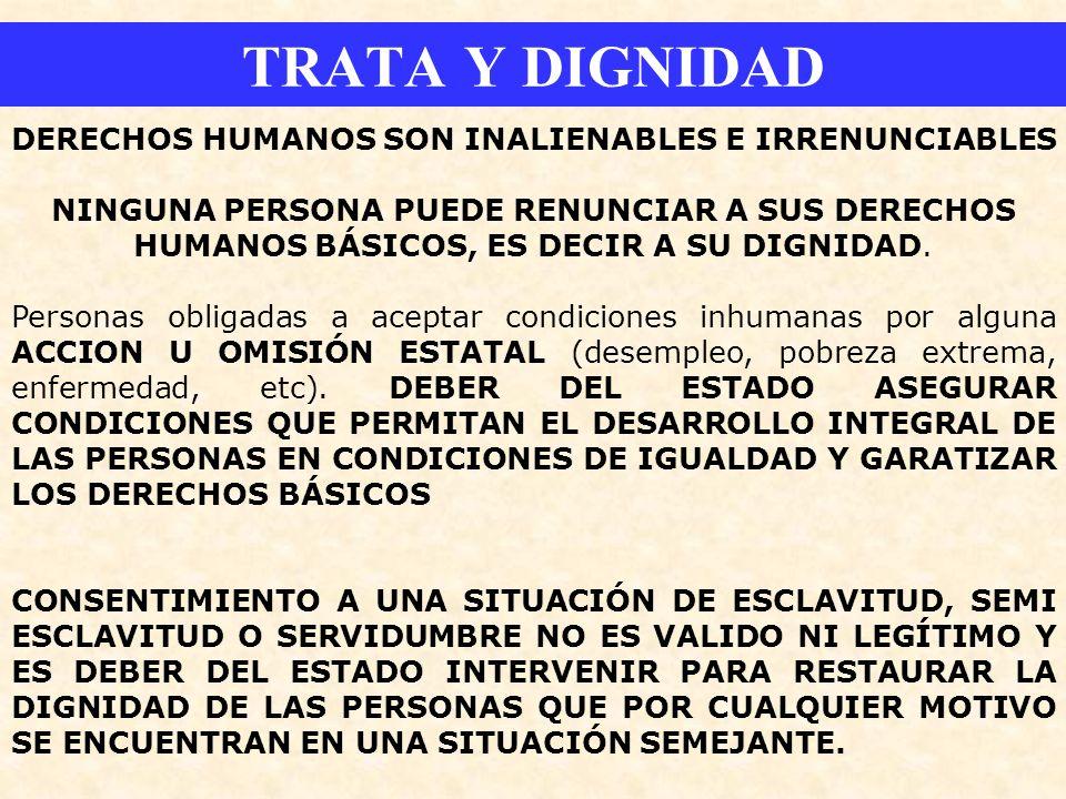 DERECHOS HUMANOS SON INALIENABLES E IRRENUNCIABLES