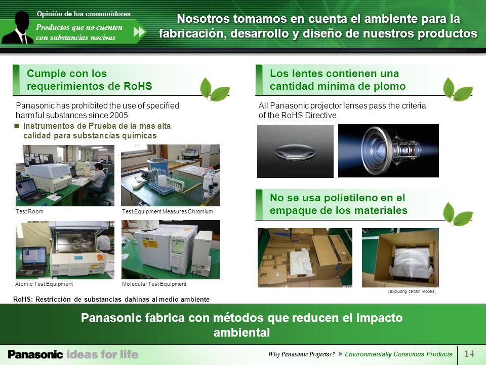 Panasonic fabrica con métodos que reducen el impacto ambiental