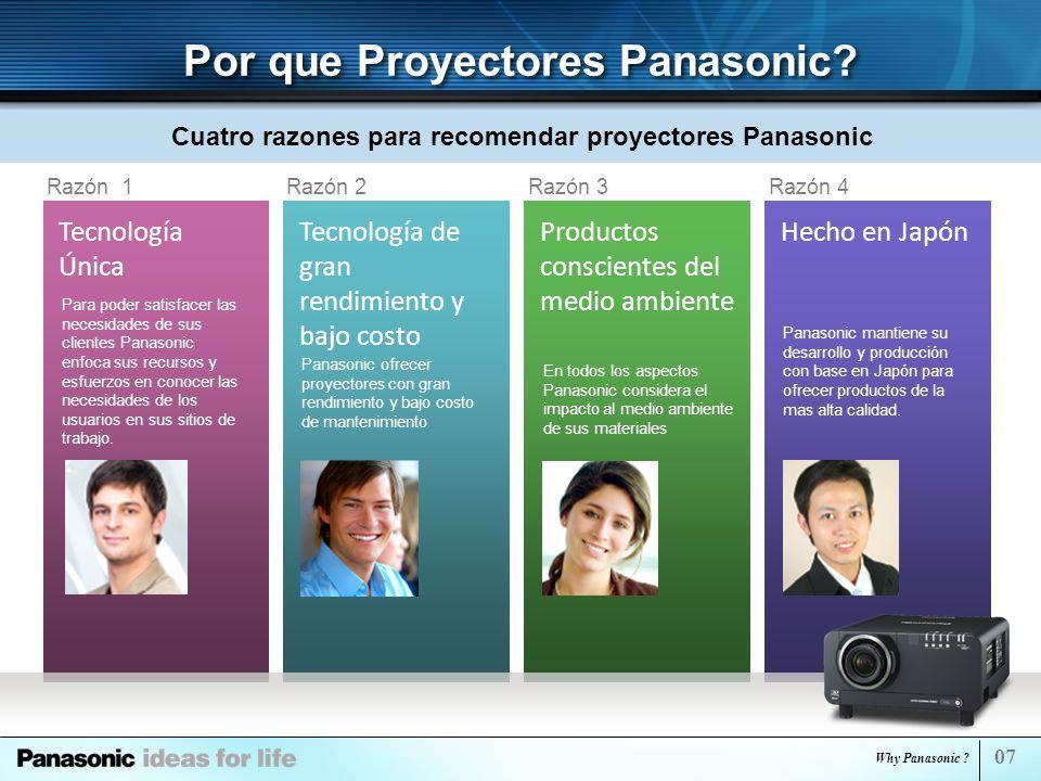 Por que Proyectores Panasonic