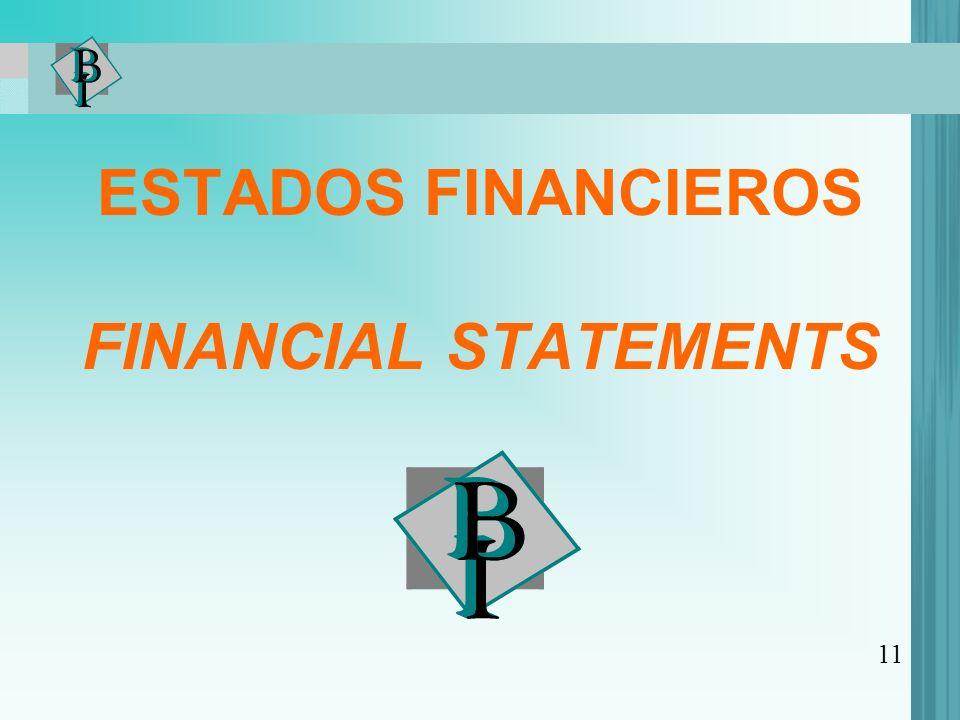 ESTADOS FINANCIEROS FINANCIAL STATEMENTS