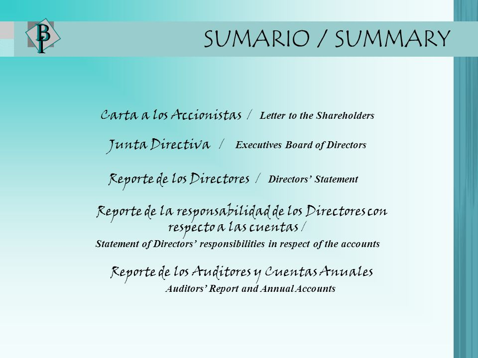 SUMARIO / SUMMARY