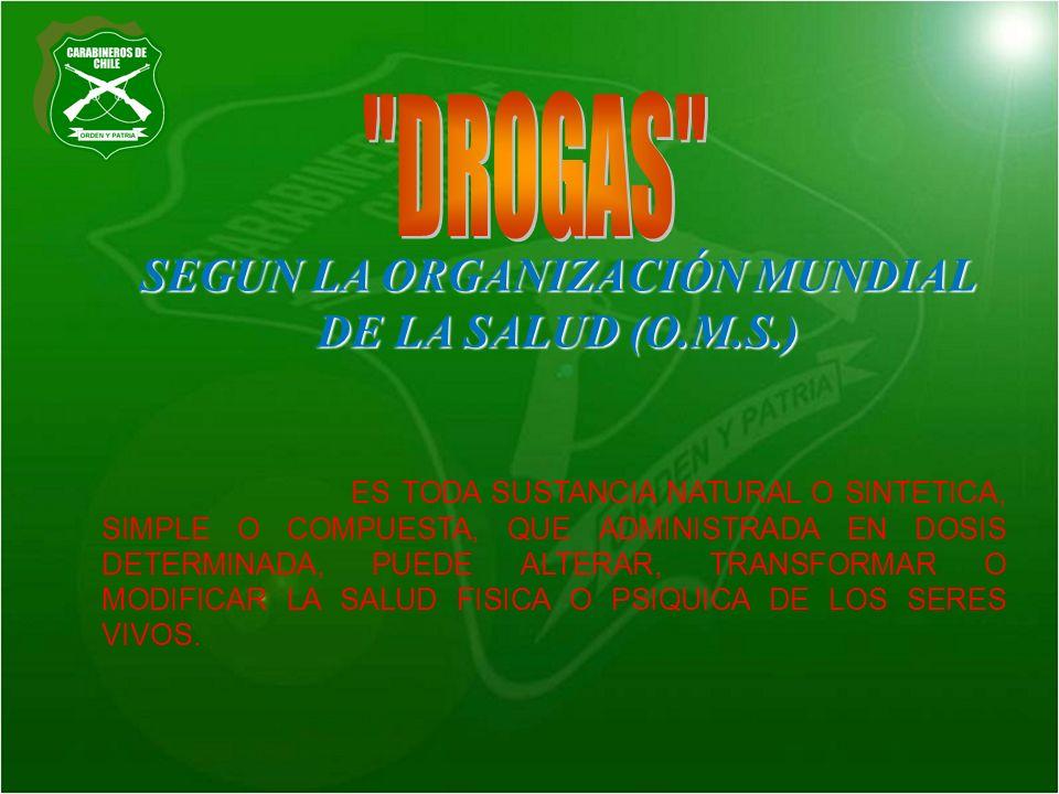 SEGUN LA ORGANIZACIÓN MUNDIAL DE LA SALUD (O.M.S.)