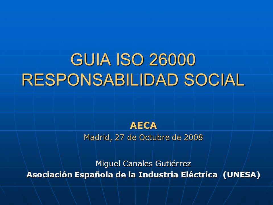 GUIA ISO 26000 RESPONSABILIDAD SOCIAL