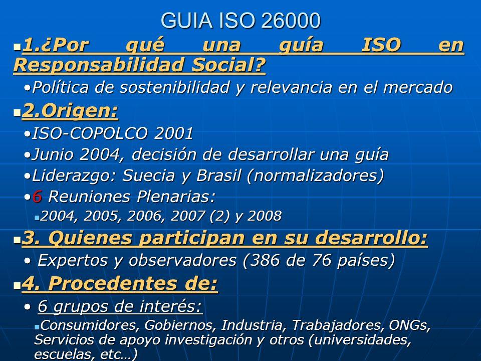 GUIA ISO 26000 1.¿Por qué una guía ISO en Responsabilidad Social