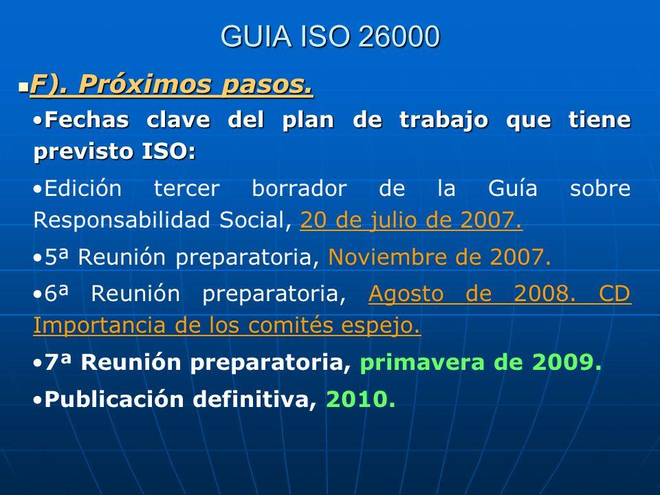 GUIA ISO 26000 F). Próximos pasos.
