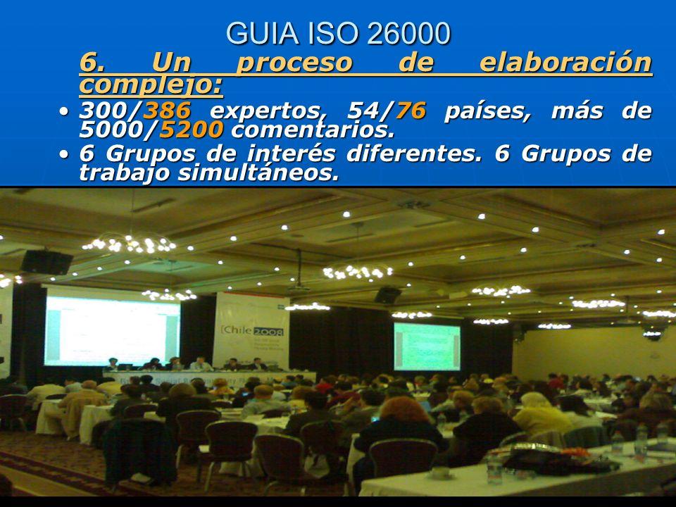GUIA ISO 26000 6. Un proceso de elaboración complejo: