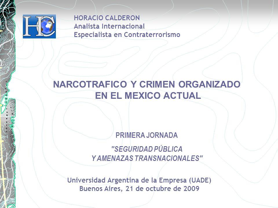 NARCOTRAFICO Y CRIMEN ORGANIZADO EN EL MEXICO ACTUAL