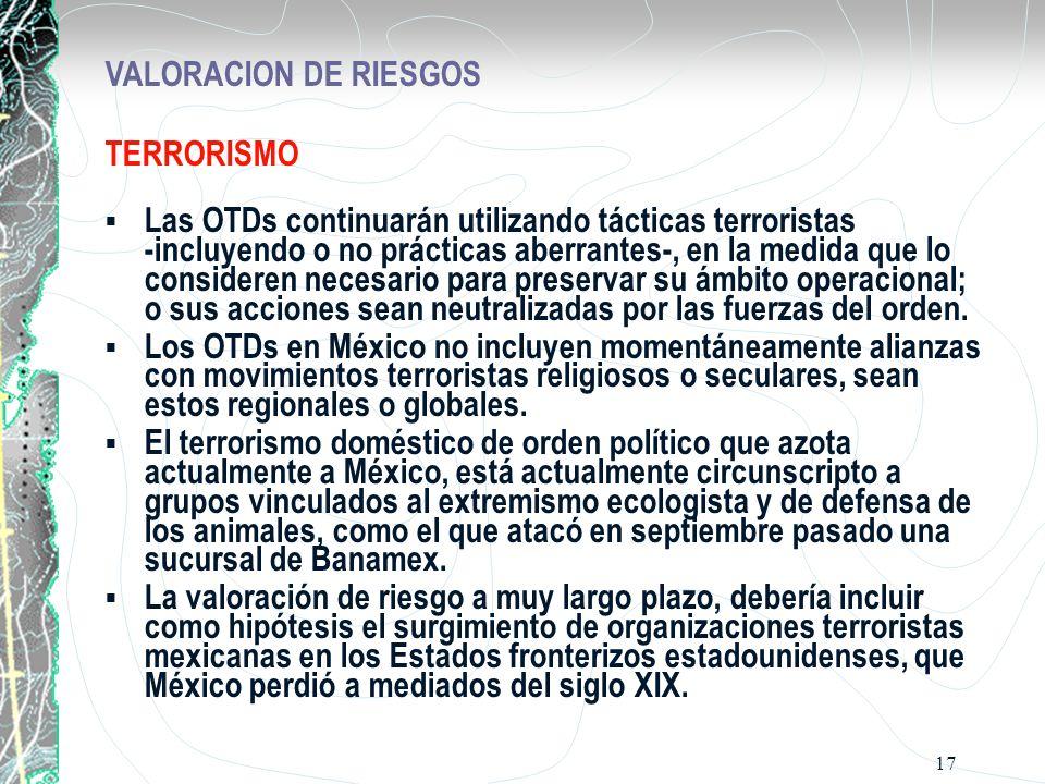 VALORACION DE RIESGOS TERRORISMO.