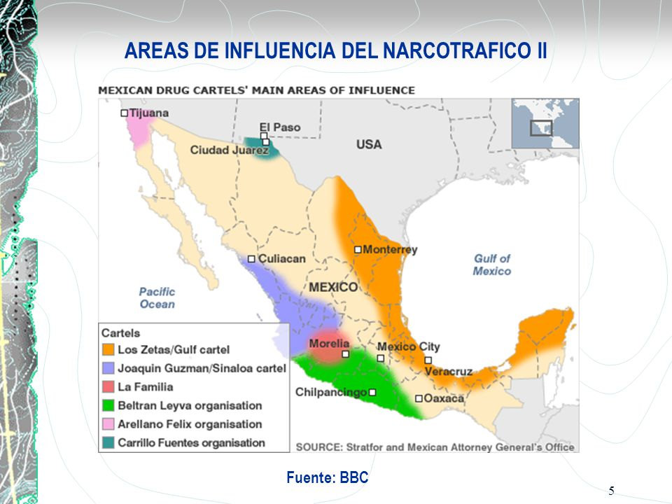 AREAS DE INFLUENCIA DEL NARCOTRAFICO II