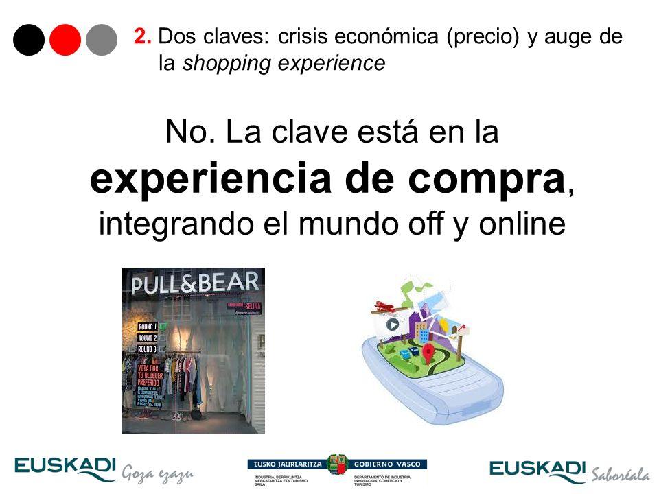 2. Dos claves: crisis económica (precio) y auge de la shopping experience