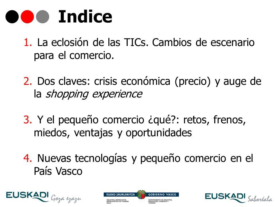 Indice La eclosión de las TICs. Cambios de escenario para el comercio.