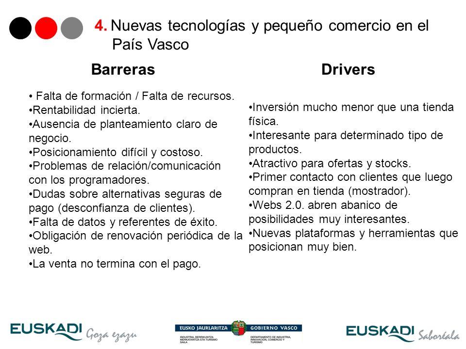 4. Nuevas tecnologías y pequeño comercio en el País Vasco
