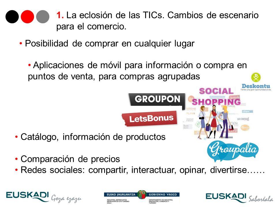 1. La eclosión de las TICs. Cambios de escenario para el comercio.