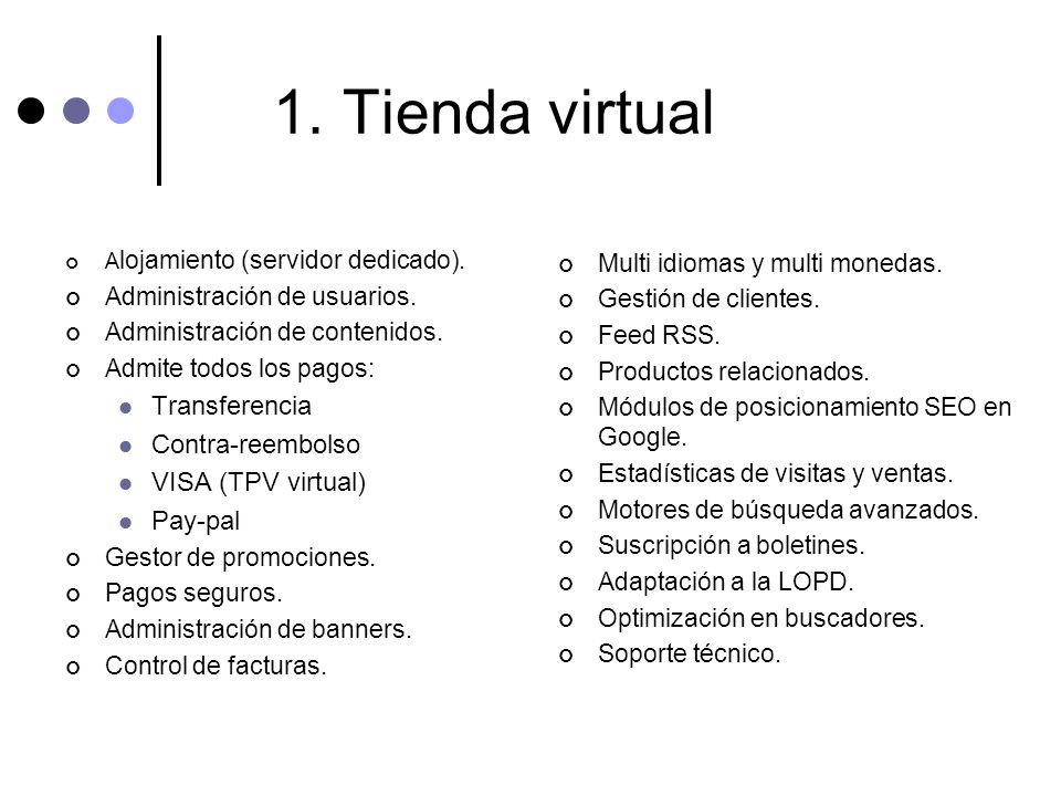 1. Tienda virtual Transferencia Contra-reembolso VISA (TPV virtual)