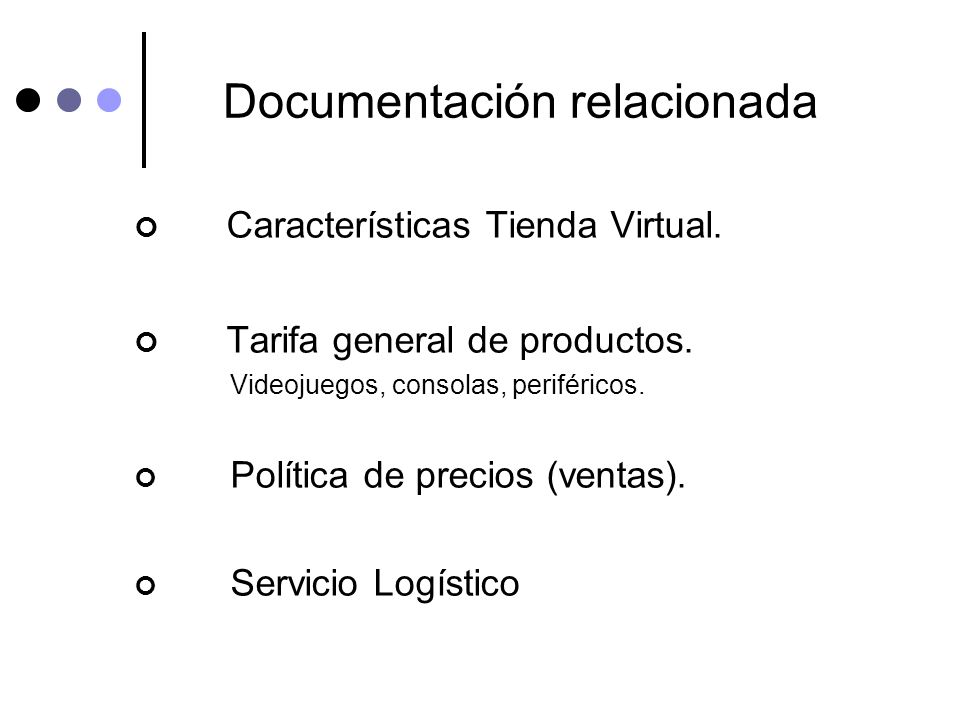 Documentación relacionada