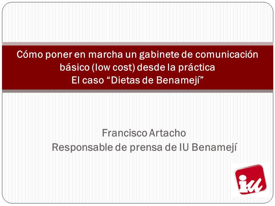 Francisco Artacho Responsable de prensa de IU Benamejí